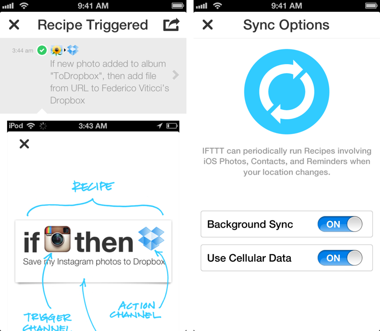 IFTTT for iPhone