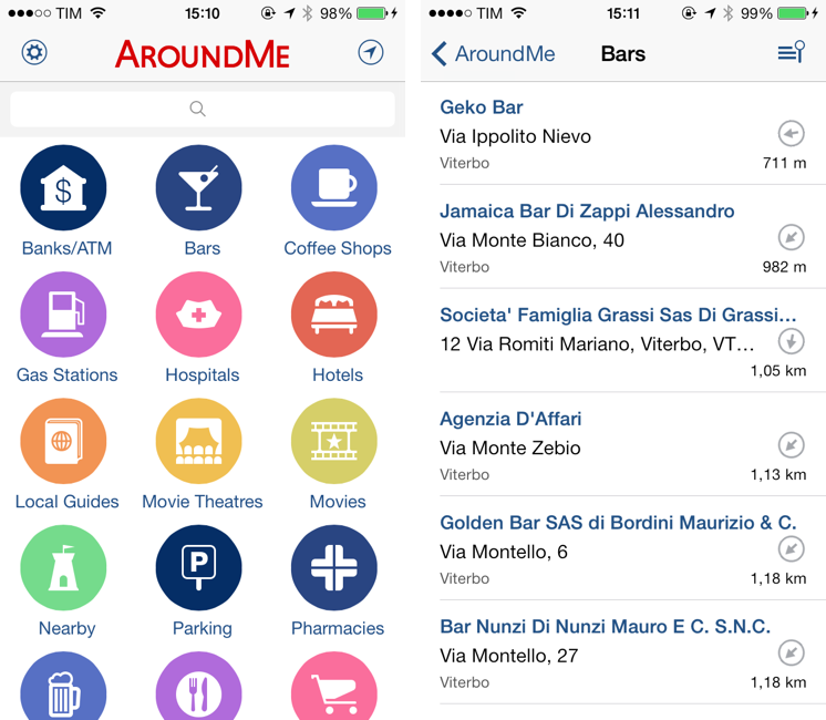 AroundMe Gets Redesign For iOS 7